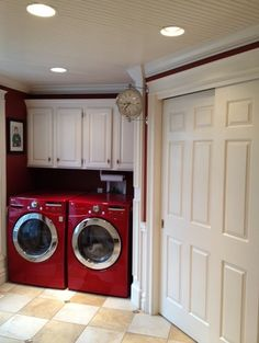 Red Washer And Dryer Dream Machines Almost Makes Laundry Worth Doing Haha Mudroom