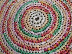 Sherbet Swirl Rug 34 Crochet Rag Area Rug Round by CedarLaneFarm