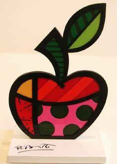 manzana pop Apple Art, Mini Apple, Arte Popular, Teacher Gifts, Color Schemes, Glass Art, Nail Designs, Canvas Art, Diy Crafts