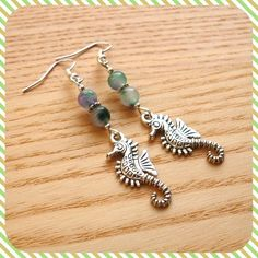 Mottled Seahorse Earrings £4.00