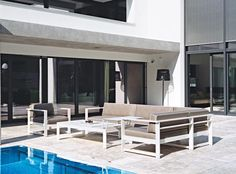Fesselnd SUMMER LOUNGE Sofa Set An Architecturally Attractive Summer Seat Made From  Aluminum Which Leaves Nothing To