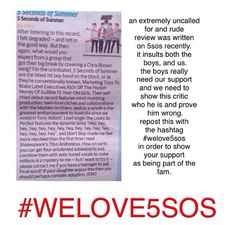 #WELOVE5SOS this is HORRIBLE IT INSULTS THE BOYS AND US <<<<< I AM SO ANGRY RIGHT NOW<<<GRRRRR IM MAD<<<<#WELOVE5SOS I cannot believe this>> WHY IN THE WROLD WOULD INSULT SOMEONES MUSIC TASTE AND THEN OH IF YOUR KID LIKES THEM TOU BETTER PUT YHEM UP FOR ADOPTION! NO YOU CANT DO THAT!!
