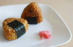 "shelovesasianfood: ""miso yaki onigiri (by nemuneko.jc) """