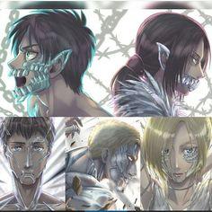 The Titan Shifters. Eren Ymir Bertholdt Reiner Annie