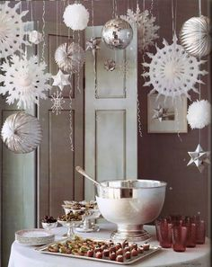 Snowflakes and ornaments