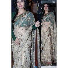 Kajol Saree Kajol Gold Jhalak Net Fabric Saree Bollywood Sarees