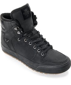 new arrivals 9d639 345ca The Vaider Cold Weather Black and Gum Boots are built from classic Supra  skateboarding styling but