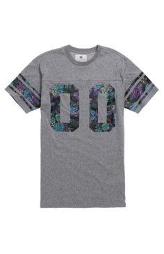 On The Byas Ted Floral Print Jersey T-Shirt Marcas Estilo Urbano f4abdf7ff2f