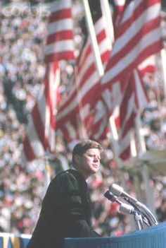 President Kennedy Giving Speech President John F. Kennedy delivers a speech during Charter Day Ceremonies at the University of California, Berkeley, California, in 1962. Date :1962 ♥❃❋✽✾❀❃ ♥ http://en.wikipedia.org/wiki/John_F._Kennedy http://en.wikiquote.org/wiki/John_F._Kennedy
