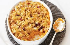 Check out this Cranberry Almond Crunch Mom's Best Sweet Potato Casserole recipe from Cranberry Almond Crunch.