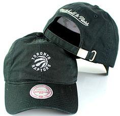 quality design 6dfee ac424 Amazon.com   Toronto Raptors NBA Mitchell   Ness Cotton Adjustable  Backstrap Dad Hat   Sports   Outdoors