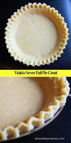 Viola's Never Fail Pie Crust  Recipe is a fabulous recipe. It's smooth, easy to handle, very forgiving and feels just like play dough! Definitely a keeper! #blessedbeyondcrazy #pie