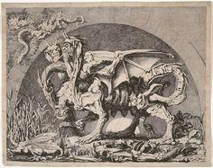 """Jean-Louis Desprez, """"La Quimera"""", 1743–1804 c.. La fealdad del marciano"""