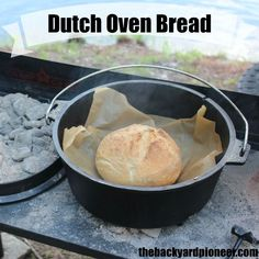 Baking bread in a Dutch Oven is a great self sufficiency skill to learn!  #preparedness #dutchovencooking