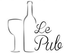 Logo Le Pub: Petit bistro de quartier #logo #bar