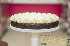Moist chocolate cake with vanilla buttercream. Just one layer of a Movie Night cake I'm whipping up but I love the simplicity of the early stages. #Dessert #Baking