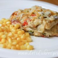 Cornbread Crusted Chicken with Jalapeno Popper Sauce printed