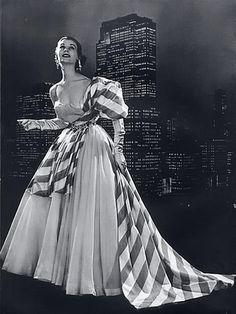 Schiaparelli 1953 Evening Gown, Photo by Philippe Pottier