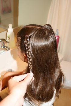 This is just like THIS  hairstyle, with only 1/2 of the hair. That is the nice thing about hair, you can change one style by just doing it o...