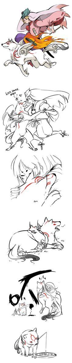 Okami+Okamiden by ryo-hakkai on deviantART | Clover Studio | Capcom