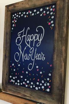 Happy new year chalkboard design