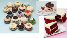 見た目も可愛いカラフルなカップケーキが並ぶ