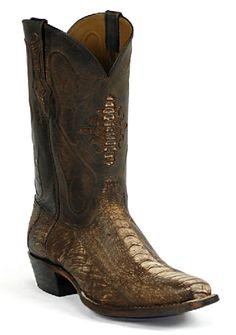 Ostrich Leg Leather Boots Style 266 Custom-Made by Black Jack Boots