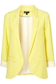 Yellow blazer :)