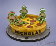mutant turtles cake - Google Search