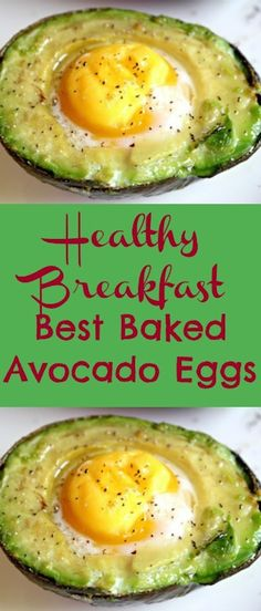 Healthy Recipes Best Breakfast Baked Avocado Eggs Recipe - The perfect way to start your day with lots of nutrition. Gluten-free, dairy-free, no sugar, keto and paleo friendly recipe. Healthy Diet Recipes, Healthy Meal Prep, Healthy Snacks, Healthy Eating, Cooking Recipes, Diet Snacks, Dinner Healthy, Simple Avocado Recipes, Avacado And Egg Recipes