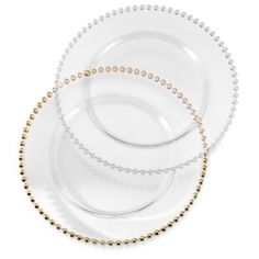 Buy 10 Strawberry Street Belmont Clear Charger Plates from Bed Bath & Beyond