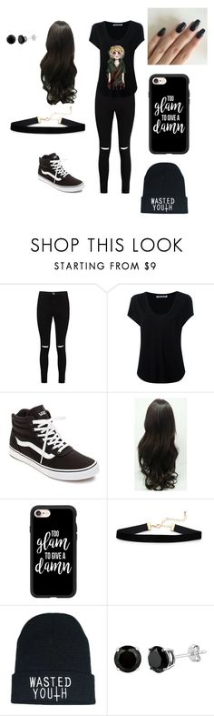 """creepypasta fan"" by kiarabevan ❤ liked on Polyvore featuring Boohoo, Alexander Wang, Vans and Casetify"