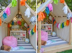 Make It: A Kid-Friendly Outdoor Reading Nook and Hideaway » Curbly | DIY Design Community