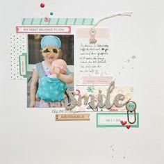Bunterpinguin: Scrapbooklayout mit Elle's Studio