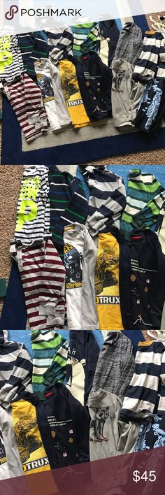Boys long sleeve bundle Sz 7 Good condition mostly from Gymboree one dinotrux H&M Gymboree Shirts & Tops Tees - Long Sleeve