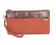 Volyer Canvas Wristlet Coin Purse Keys Bag Card Case Phone Bag Hand Pouch