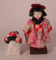 Geisha+Collection+Girl+w/Festival+Wig+Yukari+Masu+-+$460.00+:+Swan+House+Miniatures,+Artisan+Miniatures+for+Dollhouses+and+Roomboxes