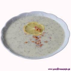 nordische Blumenkohlsuppe mit den Krabben schmeckt diese Blumenkohlsuppe nach Meer :) - schnell gemacht, preiswert und lecker glutenfrei