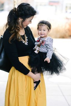 mommy and me dressy style   mommy and me outfit ideas   mommy and me fashion tips   style for littles   toddler girl winter fashion   winter fashion ideas for kids   kids winter fashion tips   fashion ideas for toddler girls    Sandy a la Mode