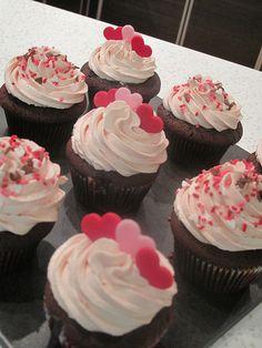 Three Heart Valentines Day Cupcake