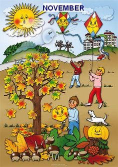 material util pentru prezentarea lunilor anului Month Weather, Weather For Kids, Weather Seasons, Autumn Activities For Kids, Everyday Activities, Special Education Activities, Autism Signs, Summer Coloring Pages, Autumn Crafts