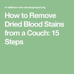 how to clean dried blood from sheets