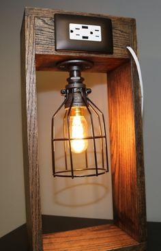 Industrial Lamp Edison Bulb Black Iron Pipe by HomeProsPlus
