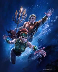 Aquaman and Mera - Visit to grab an amazing super hero shirt now on sale!