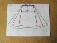 A lijn rok patroon maken