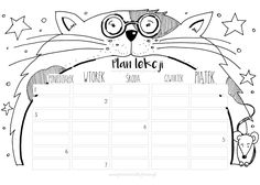 Plan lekcji * do druku * School Timetable, School Schedule, Sad Stories, Lesson Plans, Back To School, Diy And Crafts, Bullet Journal, How To Plan, Education