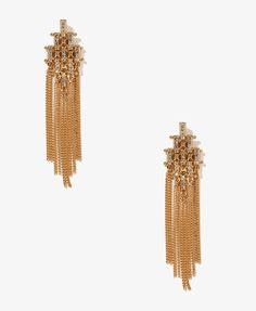 Chained Art Deco Earrings