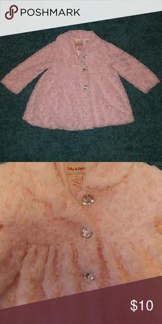 Soft pink jacket Light pink color . Super soft. Diamond buttons. EUC toffee apple Jackets & Coats