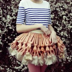 I'm a Barbie Girl. (In a Barbie skirt. Fashion Week, Look Fashion, Fashion Art, Womens Fashion, Fashion Design, Crazy Fashion, Funny Fashion, Looks Party, Look Festival