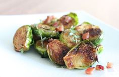 Bacon Brussels Sprouts with Brown Butter Vinaigrette